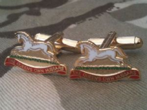 Queens Own Hussars Military Cufflinks